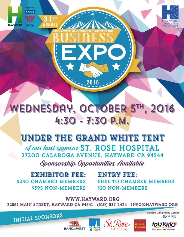 31st Annual Hayward Business Expo, October 5 - The Chamber Link