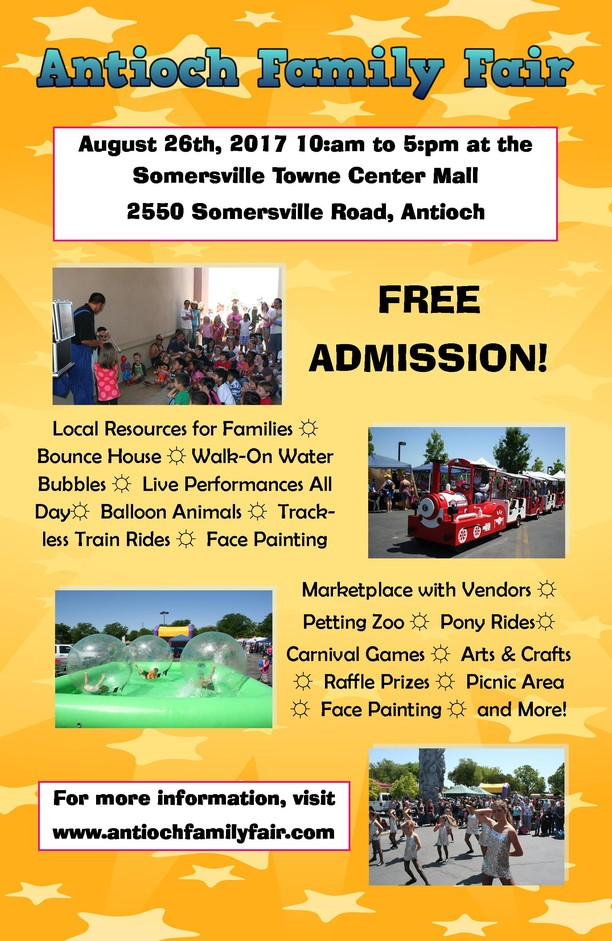 Antioch family fair august 26 the chamber link for Vendors wanted for craft shows 2017