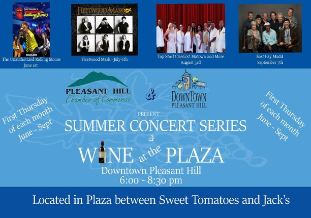 Wine at the Plaza - Downtown Pleasant Hill, 1st Thursdays thru September