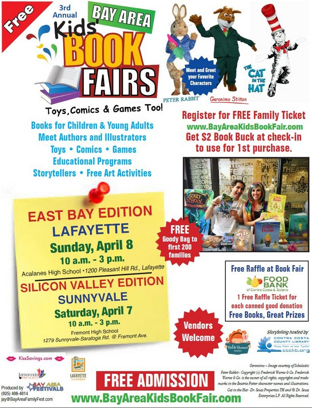 Bay Area Kids' Book Fairs, April 7 & 8