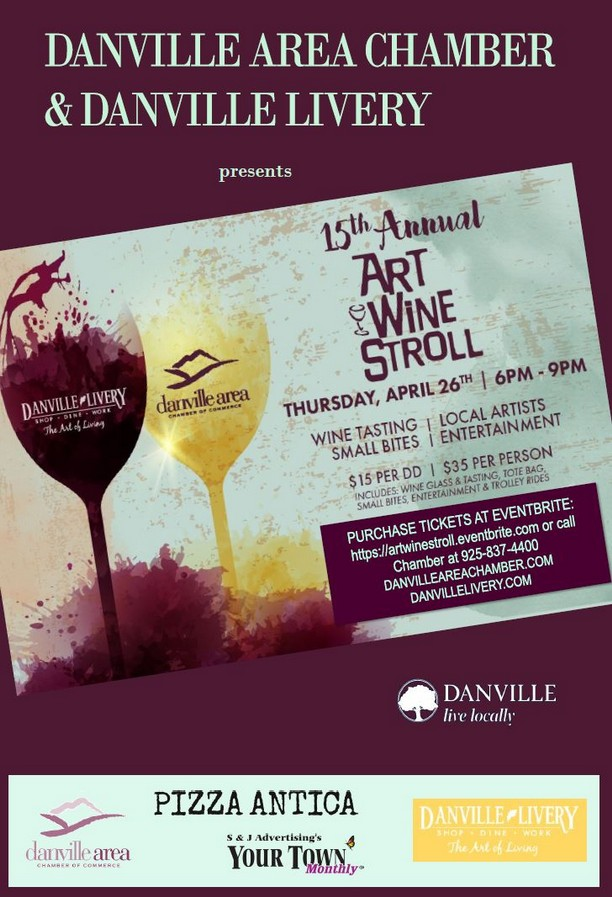 15th Annual Art & Wine Stroll. April 26