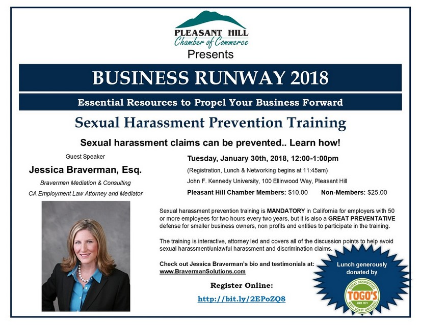 Business Runway - Sexual Harassment Prevention Training, January 30