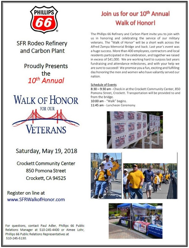 Walk of Honor for our Veterans, May 19