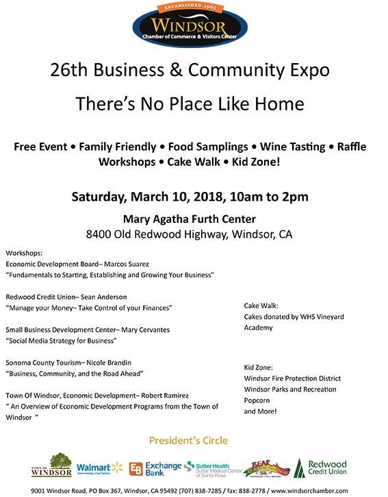 Windsor 26th Annual Business & Community Expo, March 10
