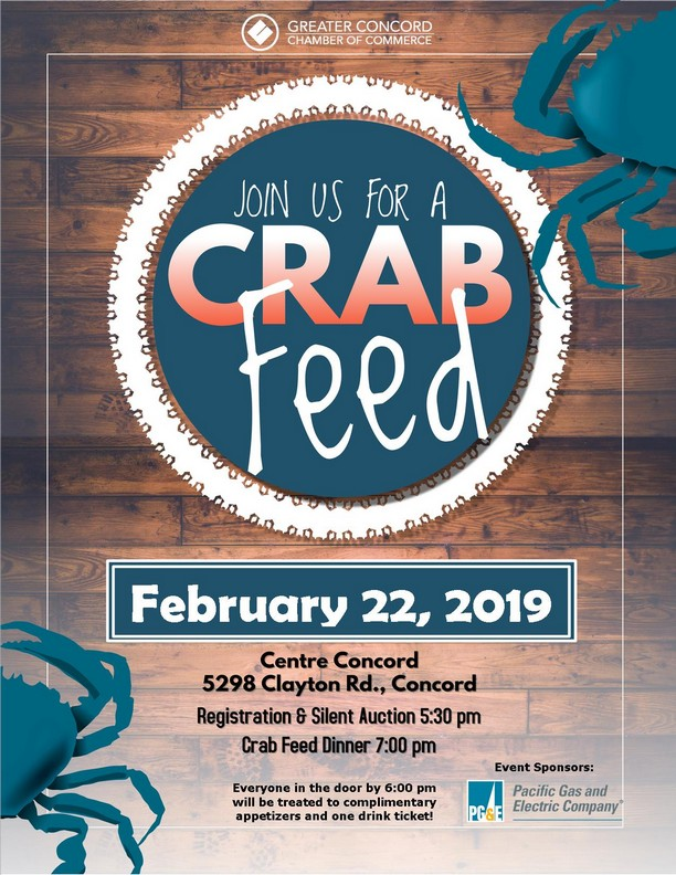 Concord Chamber Crab Feed and Auction, February 22