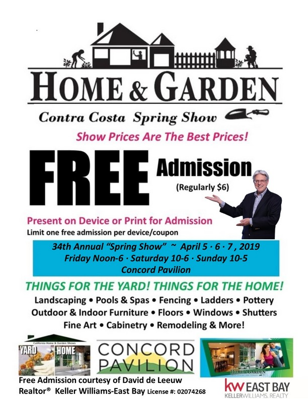 Contra Costa Home & Garden Show, April 5, 6, & 7