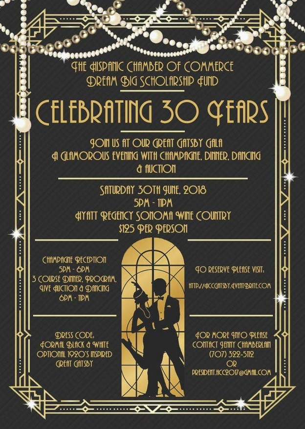 Great Gatsby Gala, June 30