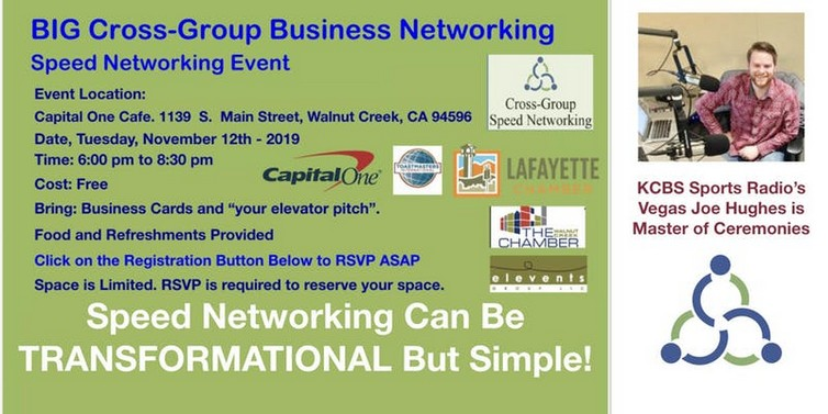 Cross-Group Networking and Speed Networking Event, November 12