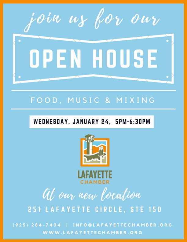 Lafayette Chamber Open House at our NEW Location, January 24