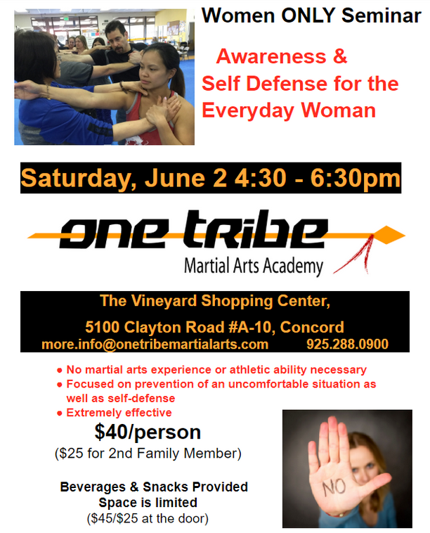 Awareness & Self Defense for the Everyday Woman, June 2