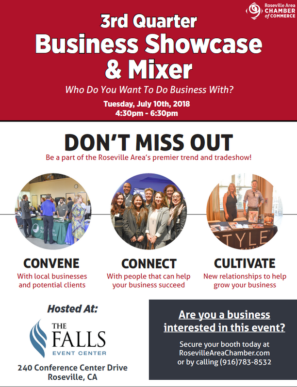 Roseville - Business Showcase & Mixer, July 10