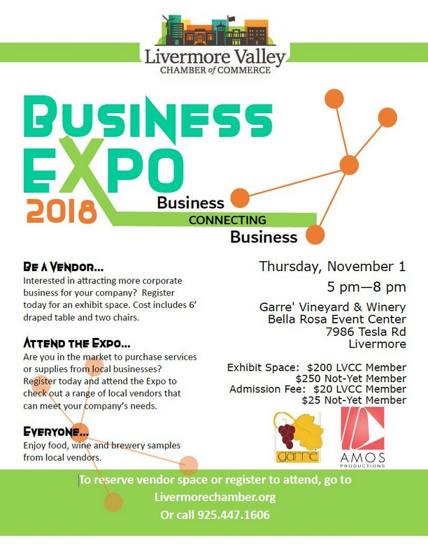 Livermore Valley Chamber of Commerce Business Expo, November